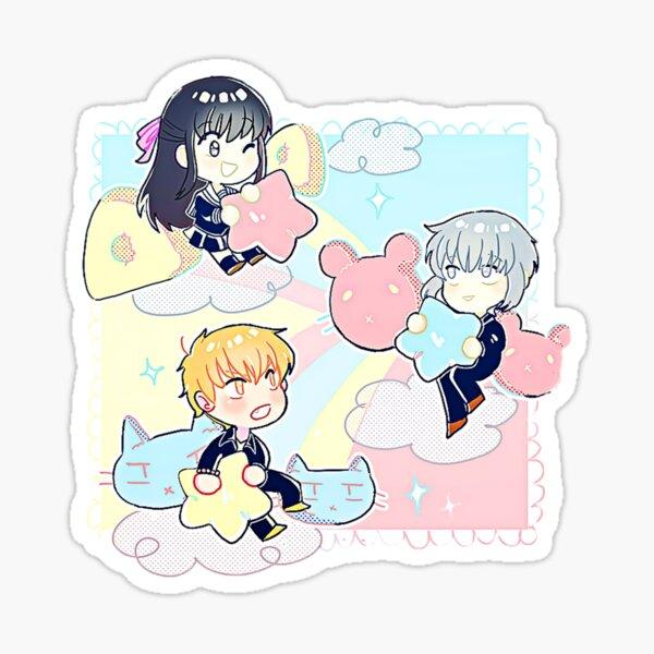 Kyo, Yuki ant Tohru Stars (Fruits Basket) Sticker