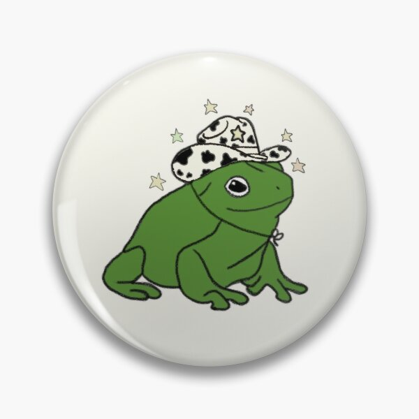 Frog with a cowboy hat ★ Pin