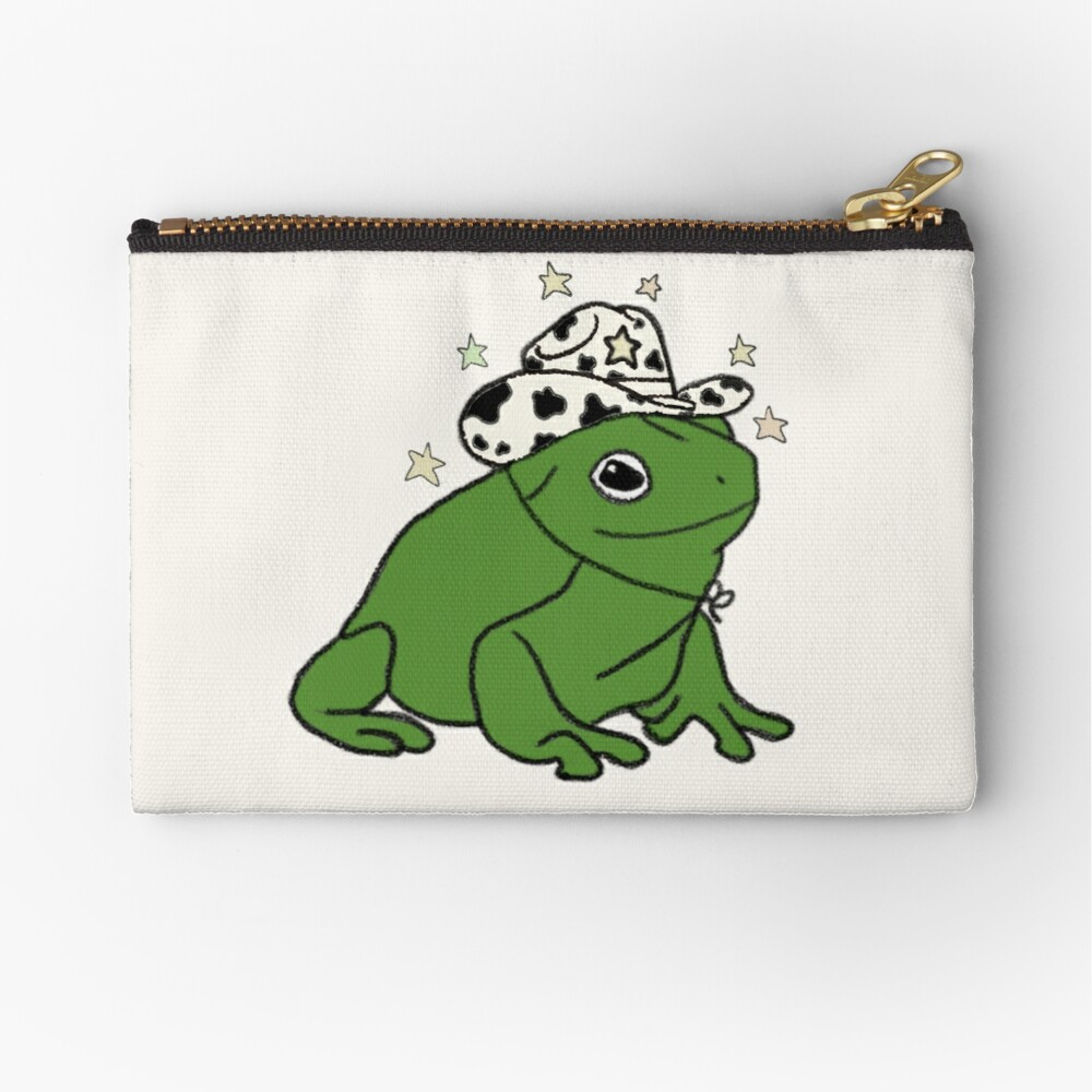 Frog with a cowboy hat ★ Zipper Pouch