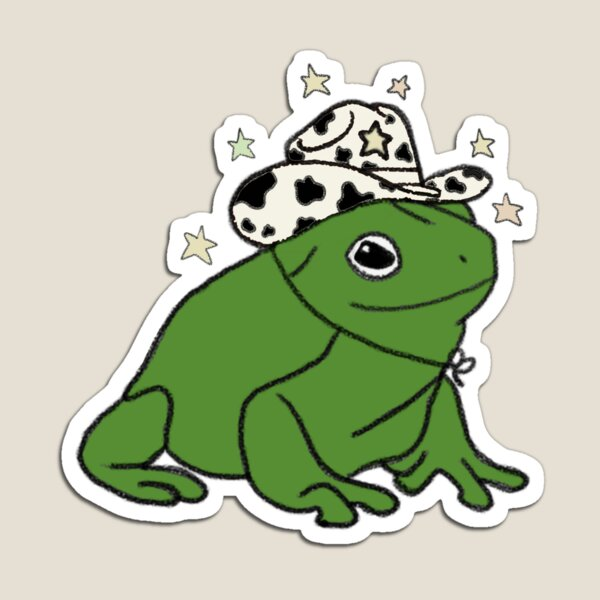 Frog with a cowboy hat ★ Magnet