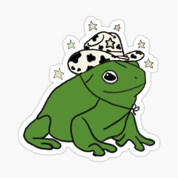 Grenouille avec un chapeau de cowboy ★ Sticker