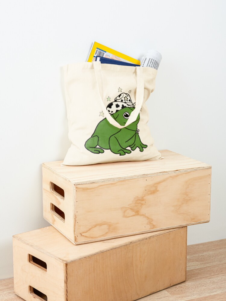 Alternate view of Frog with a cowboy hat ★ Tote Bag