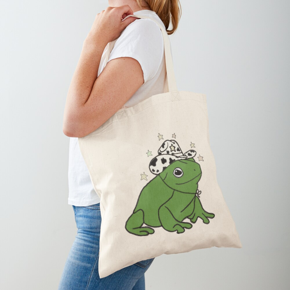 Frog with a cowboy hat ★ Tote Bag