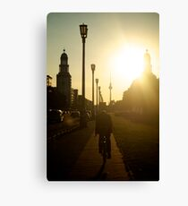 Sunset, Friedrichshain Canvas Print