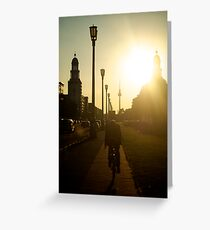 Sunset, Friedrichshain Greeting Card