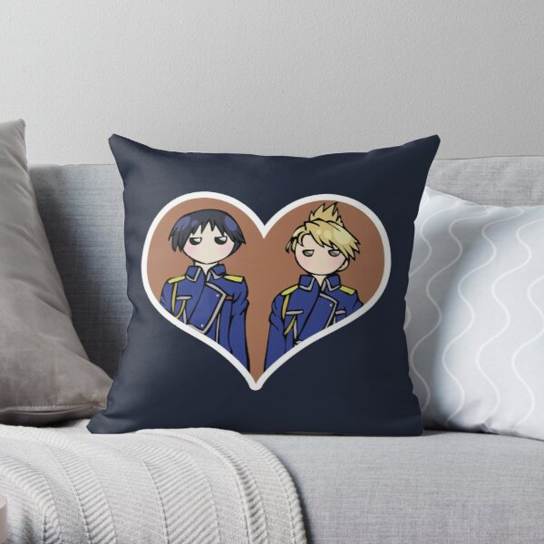 Roy and Riza - shipping dolls Throw Pillow