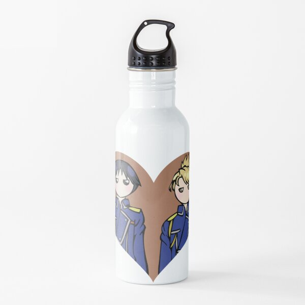 Roy and Riza - shipping dolls Water Bottle