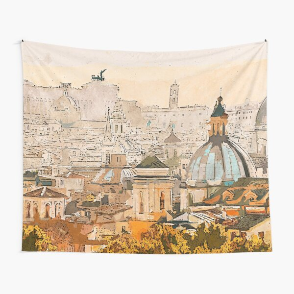 Rome Cityscape Tapestry