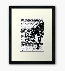 The Dark Wood 'Stalking Fox' Design Framed Print