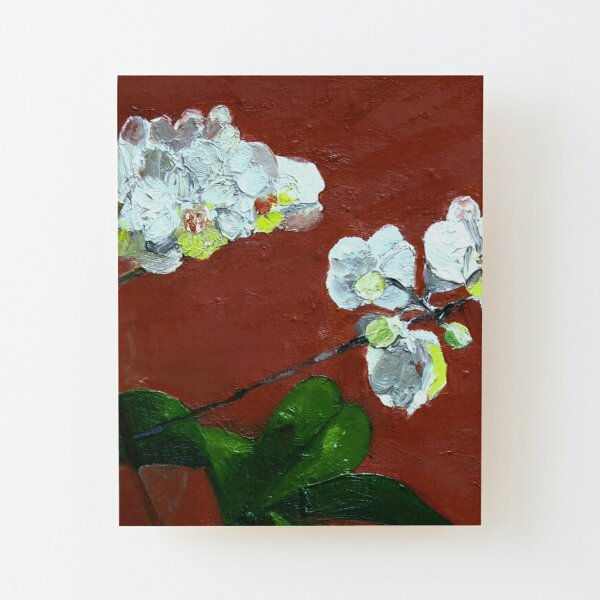 Nature - White Orchid Wood Mounted Print