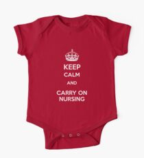 Keep Calm and carry on Nursing Kids Clothes