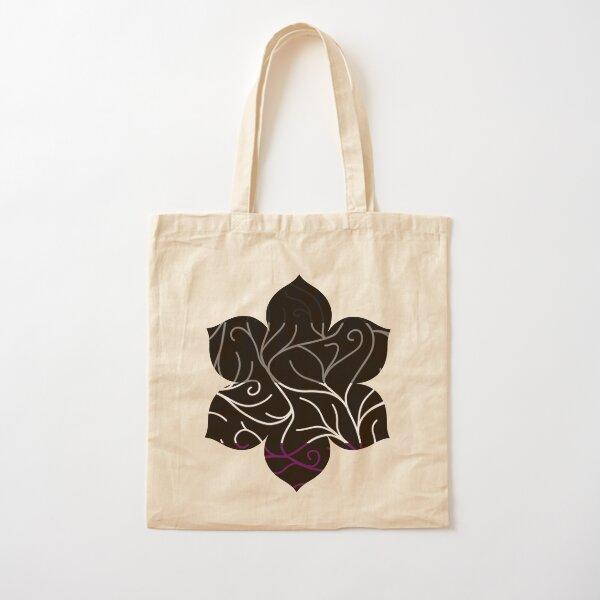 Black Velvet, Asexual Flag Vines Cotton Tote Bag