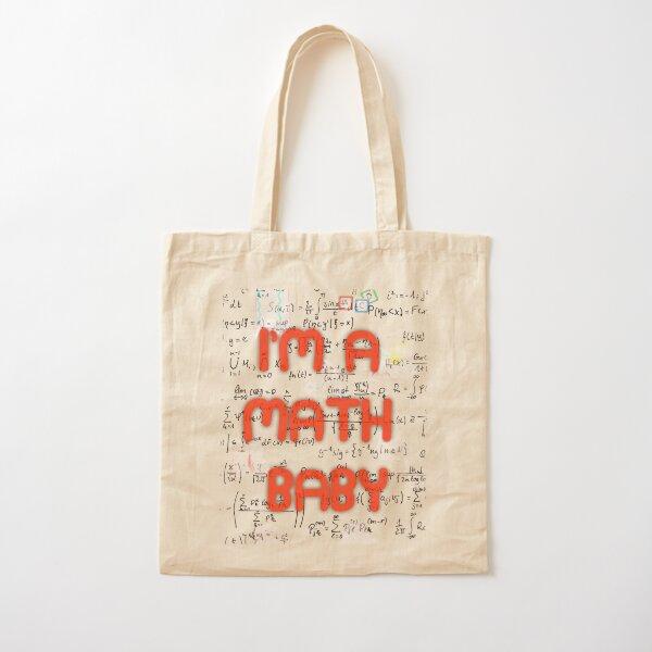 I Am A Math Baby Cotton Tote Bag