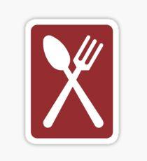 Restaurant, Sign UK  Sticker