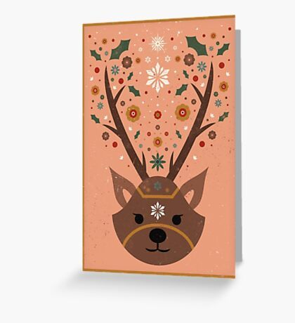 The Christmas Stag Greeting Card