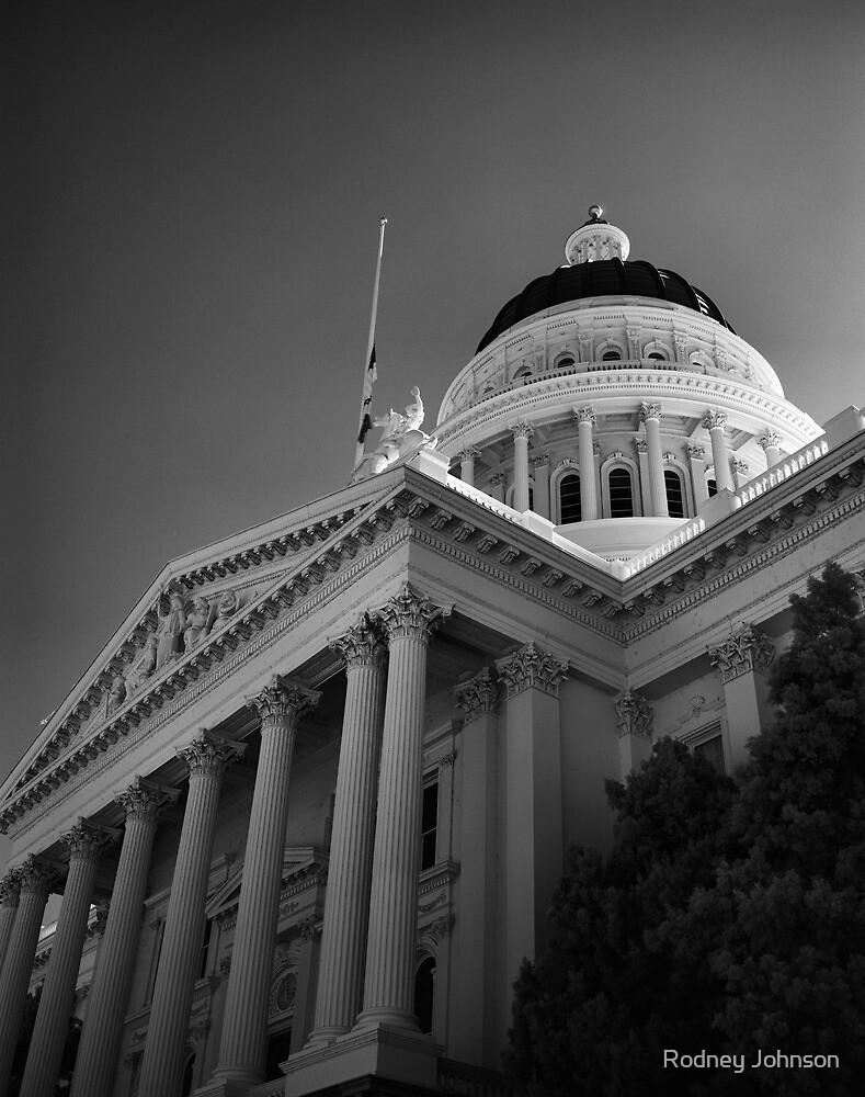 State Capital Building, Sacramento California by Rodney Johnson