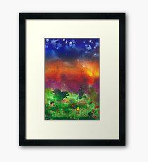 Abstract - Crayon - Utopia Framed Print