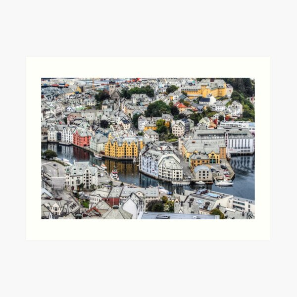 Looking down on Alesund Art Print