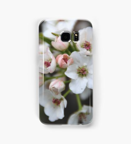 White and Pink Flowers Samsung Galaxy Case/Skin