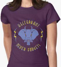 Hellephant - Impale Blue on Purple T-Shirt