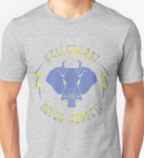 Hellephant - Impale Blue on Heather Grey T-Shirt