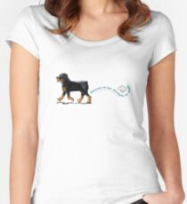 Rottweiler Places to Go Women's Fitted Scoop T-Shirt