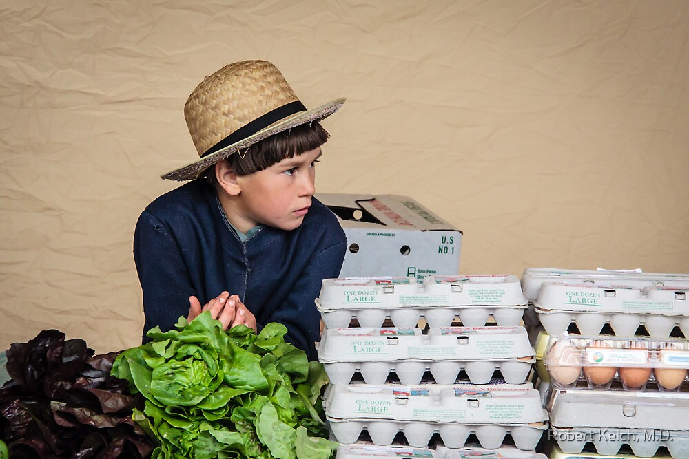 Selling Eggs at Farmer's Market by Robert Kelch, M.D.