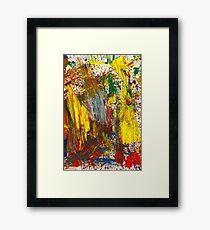 Abstract - Guash - Morning sadness Framed Print