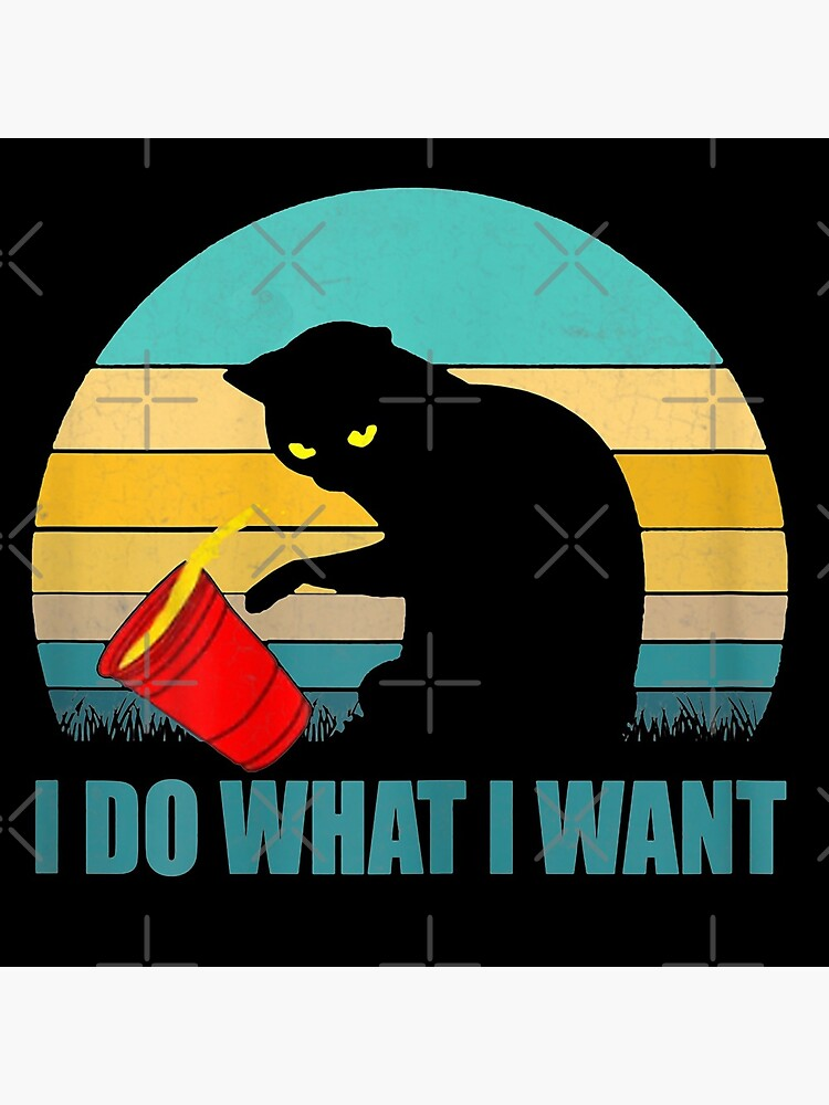 I do what I want red cup cat tshirt and gifts by leoadam