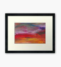 Abstract - Guash & Acrylic - Pleasant Dreams Framed Print