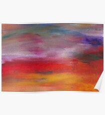 Abstract - Guash & Acrylic - Pleasant Dreams Poster