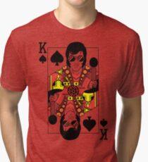Elvis Presley Vegas Style Playing Card Tri-blend T-Shirt