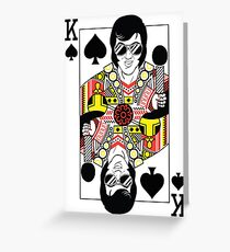 Elvis Presley Vegas Style Playing Card Greeting Card
