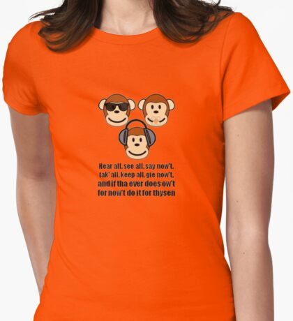 The Barnsley Tyke Proverb Hear All, See all Say Nowt T-Shirt