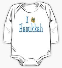 I Love Hanukkah Hanukkah T-Shirt One Piece - Long Sleeve