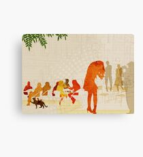 People in a cafe Canvas Print