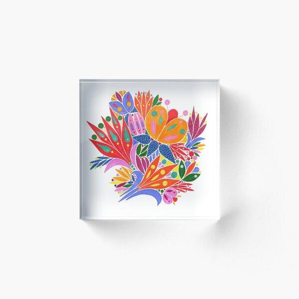 Bouquet of flowers Acrylic Block
