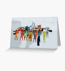 People demonstration Greeting Card
