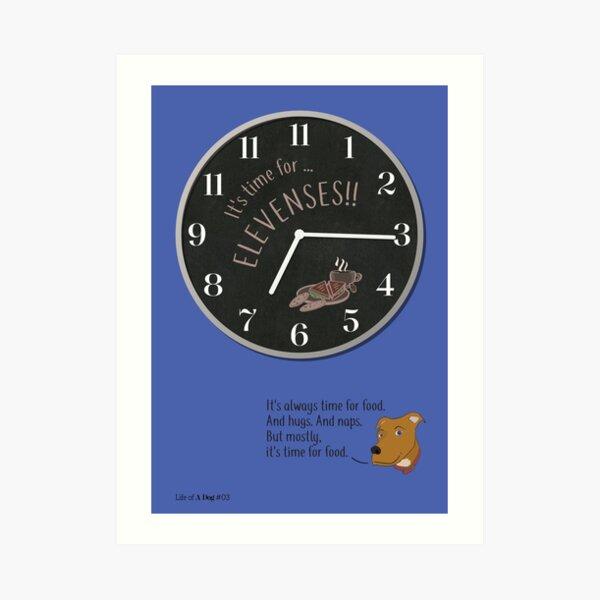 Honest Elevenses Clock Face Art Print