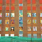 portraits on a building by shireengol