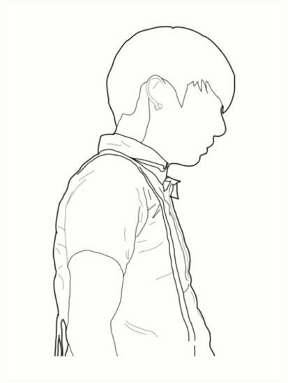 Line Art Kpop : Quot bts jungkook jeongguk line art prints by