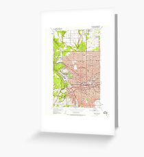 USGS Topo Map Washington State WA Spokane NW 243924 1950 24000 Greeting Card