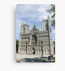 Nidaros Cathedral in Trondheim Norway Metal Print
