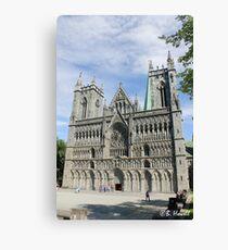 Nidaros Cathedral in Trondheim Norway Canvas Print