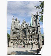 Nidaros Cathedral in Trondheim Norway Poster