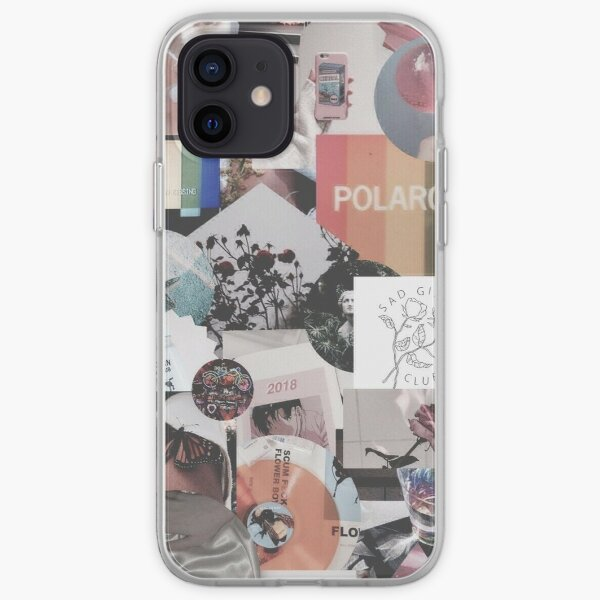 retro estética grunge adolescente caja del teléfono billetera cita tumblr pegatina Funda blanda para iPhone