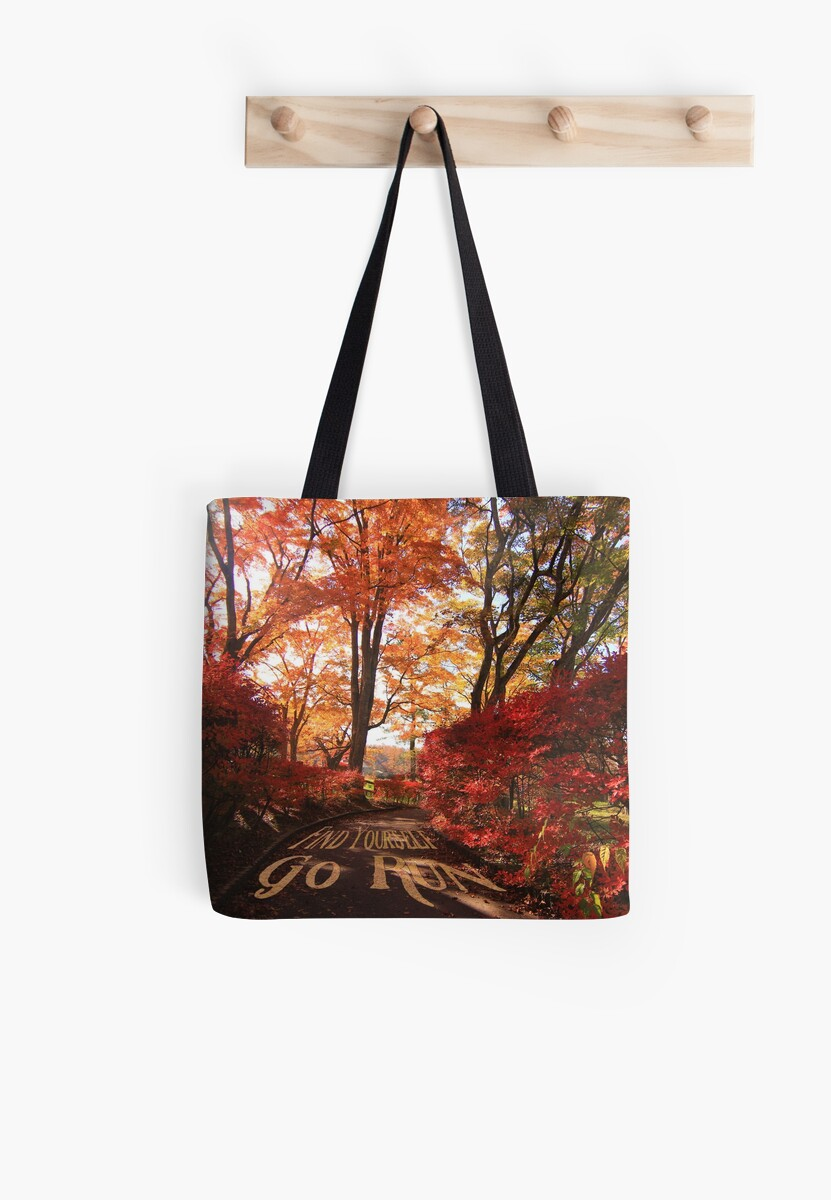 Find Yourself Go Run Autumn Leaves Fall Season by Beverly Claire Kaiya