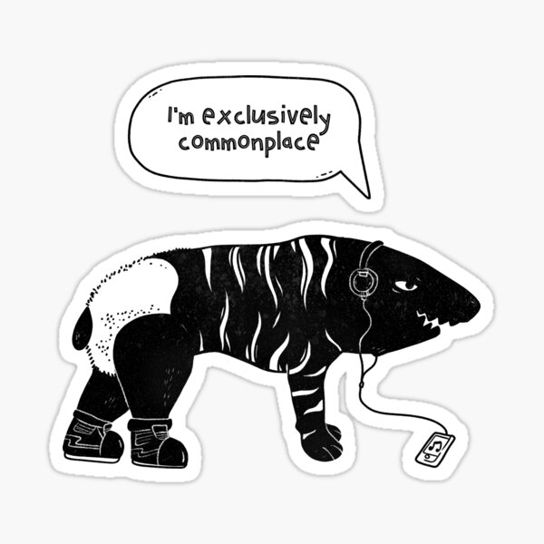 Exclusively Commonplace. Contradiction. Black Sticker