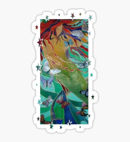 Swimming with Butterflies Sticker