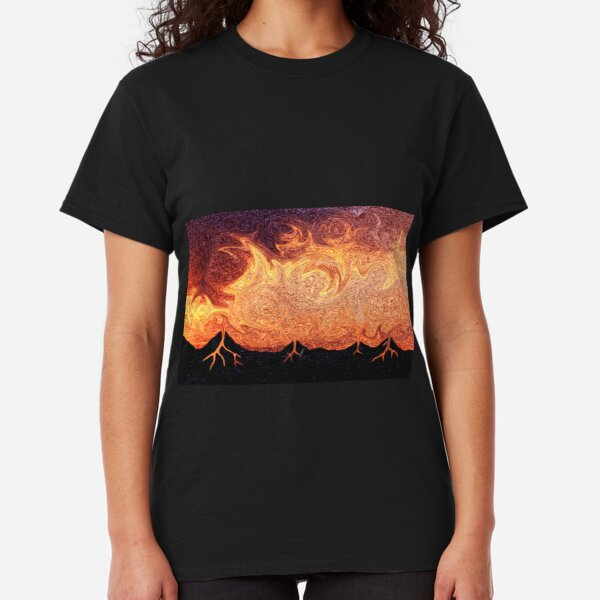 How Volcanoes are Made with Sky Lava Classic T-Shirt